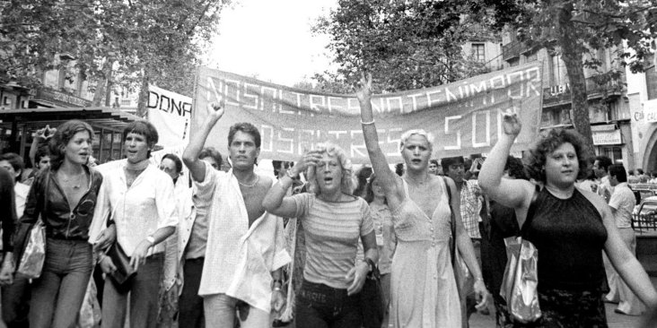 1ª Manifestación LGTBI, Barcelona, 1977 - Colita (Isabel Steva Hernández)
