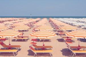 Rimini orange umbrellas