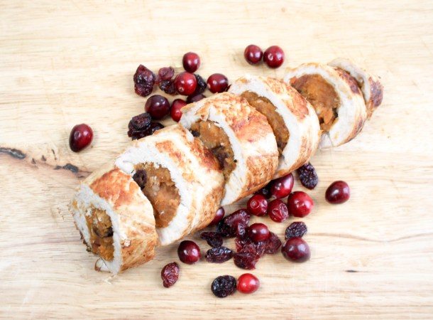 Yam and Cranberry Stuffed Turkey Tenderloin by Diverse Dinners