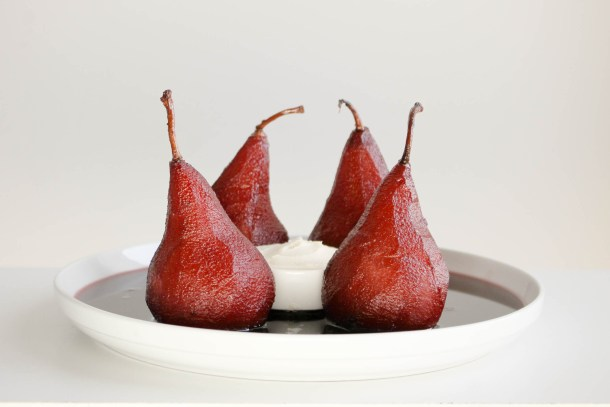 Port Poached Pears by Diverse Dinners