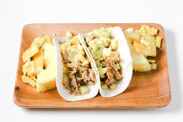 Spicy Chicken Tacos with Pineapple Corn Salsa by Diverse Dinners