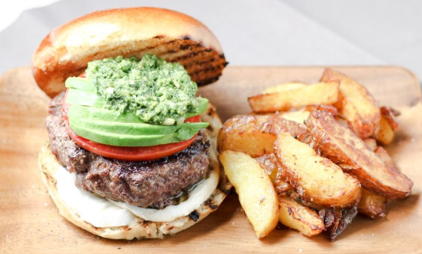 Tricolor Half Pound Burger by Diverse Dinners