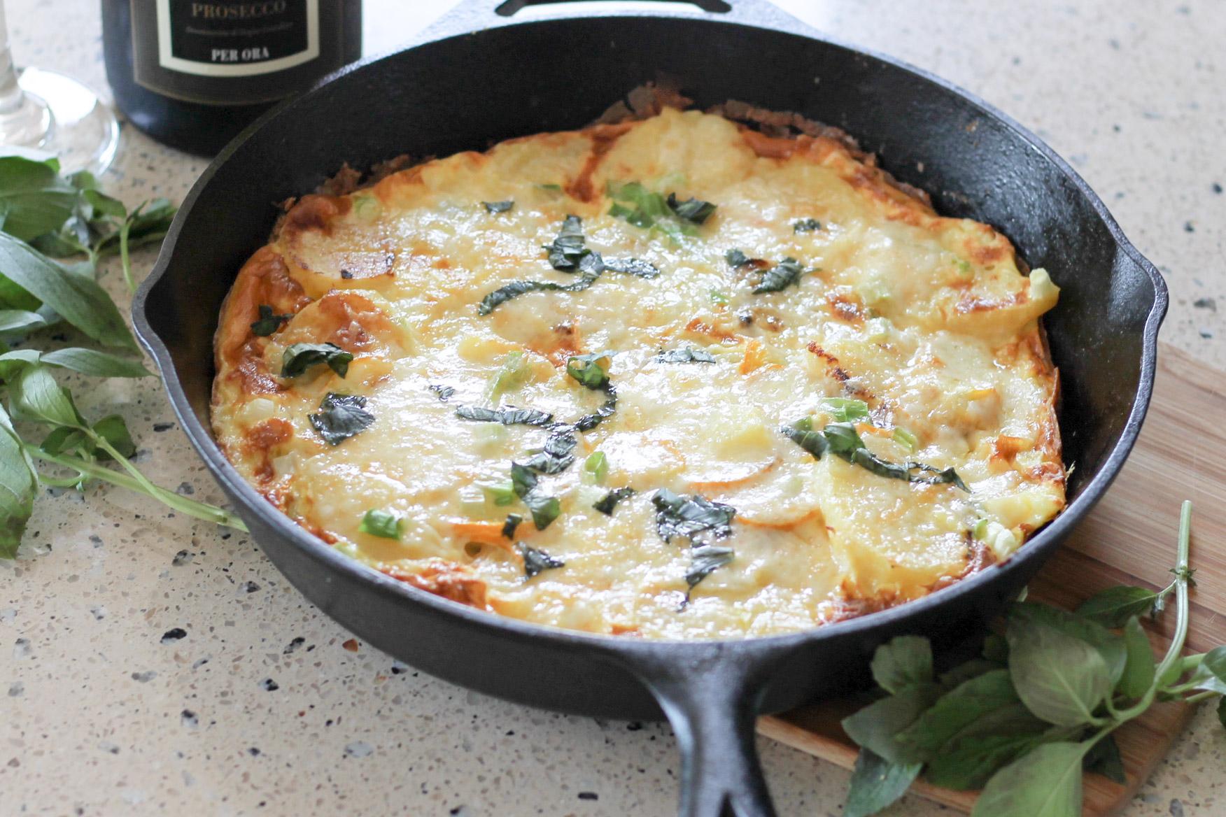 Potato Zucchini Frittata | DIVERSE DINNERS