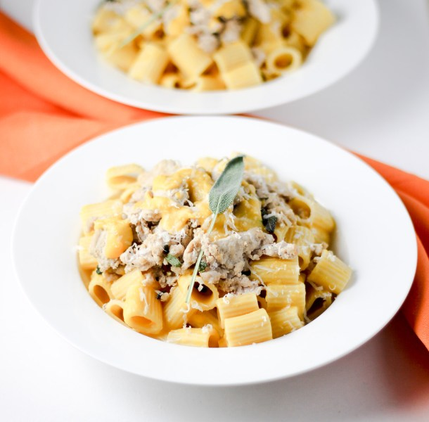 Butternut Squash Pasta with Turkey by Diverse Dinners