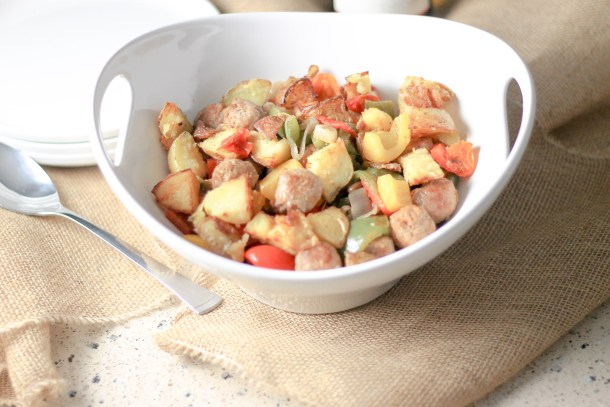 Turkey Sausage Skillet with Crispy Potatoes by Diverse Dinners