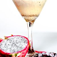 Dragon Fruit Bourbon Martini