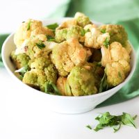 Lime Garlic Green Cauliflower