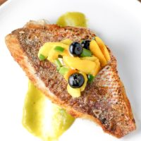 Snapper Fillet with Spicy Mango Sauce