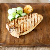 Grilled Lemon Butter Halibut Steaks