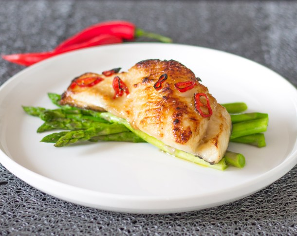 Bourbon Glazed Chilean Sea Bass by Diverse Dinners