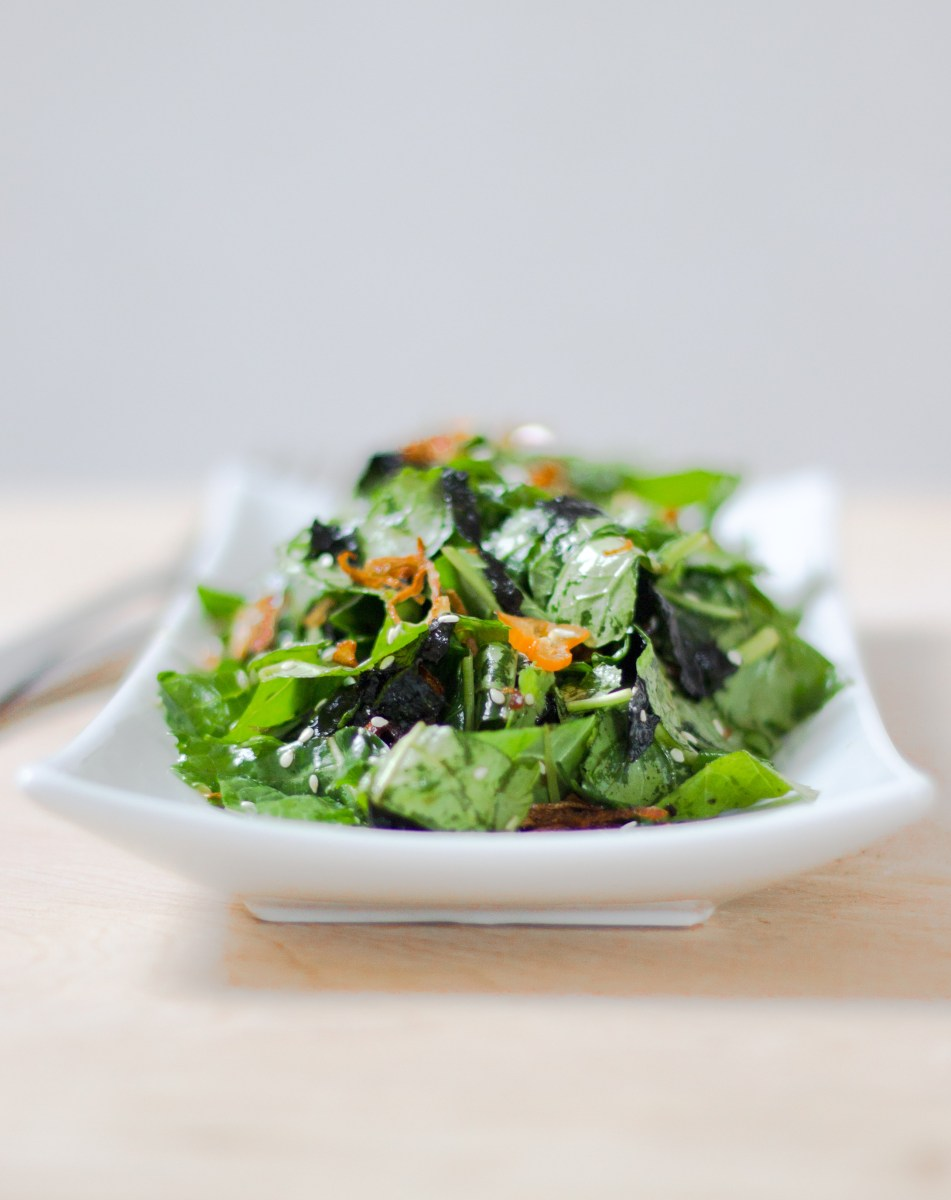 Spicy Kale and Seaweed Salad