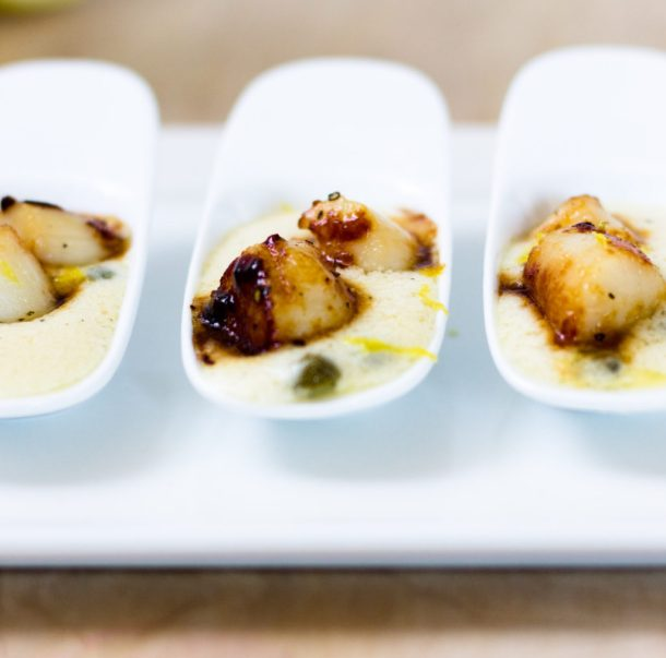 Bay Scallops Amuse Bouche by Diverse Dinners