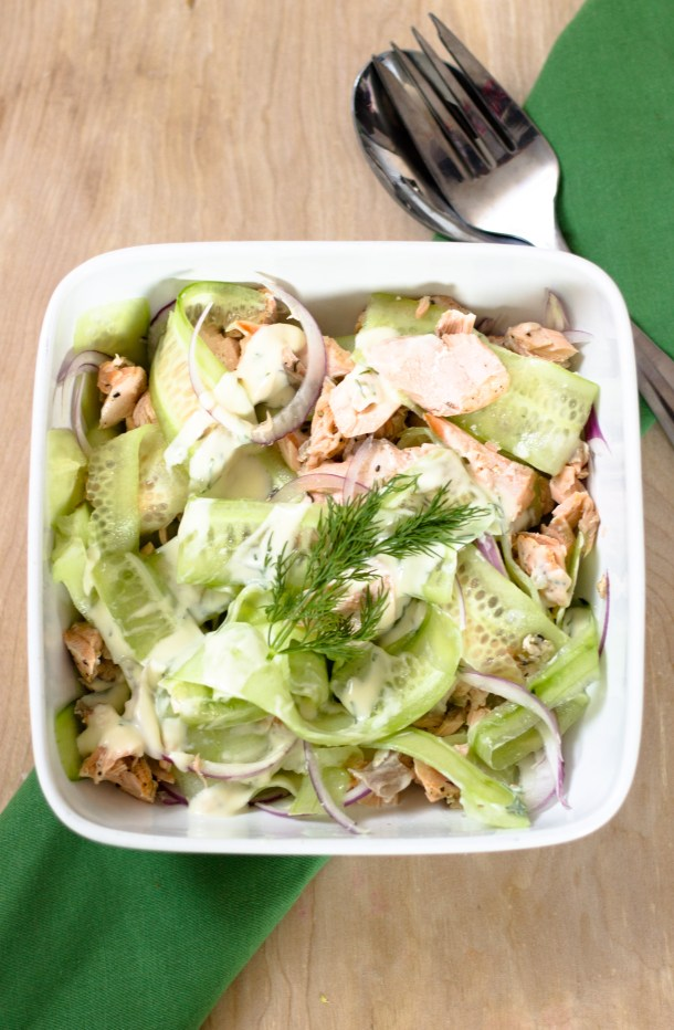 Cucumber Salmon Salad by Diverse Dinners