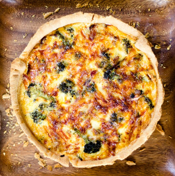 Deep Dish Broccoli Bacon Quiche by Diverse Dinners
