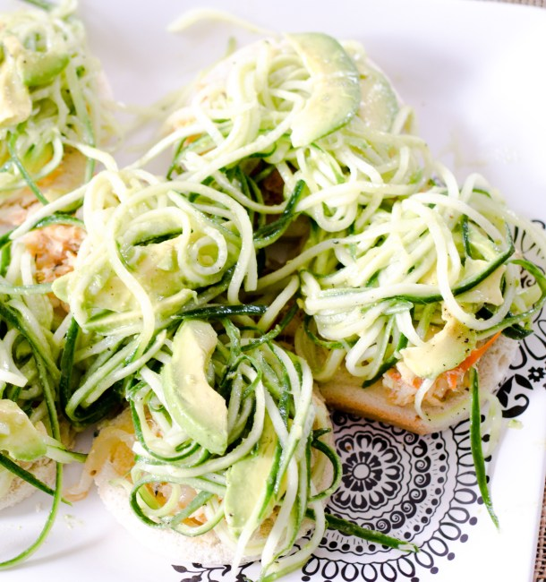 Salt Cod Avocado Cucumber Stack by Diverse Dinners