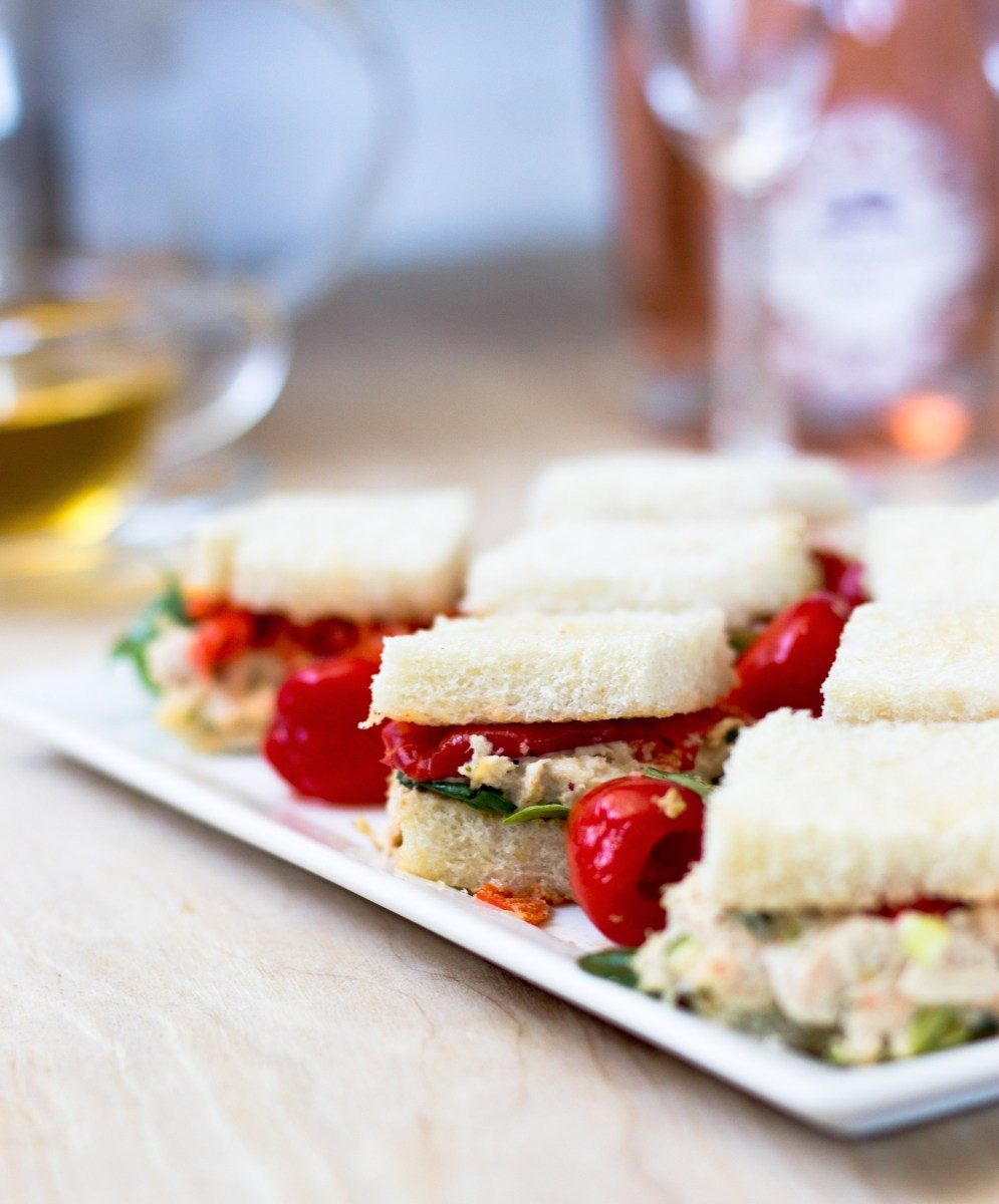 Tea Time Tuna Peppadew Sandwiches