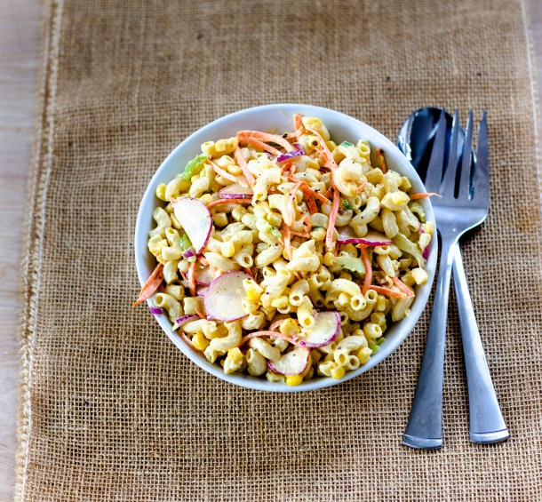 Crunchy Macaroni Salad by Diverse Dinners