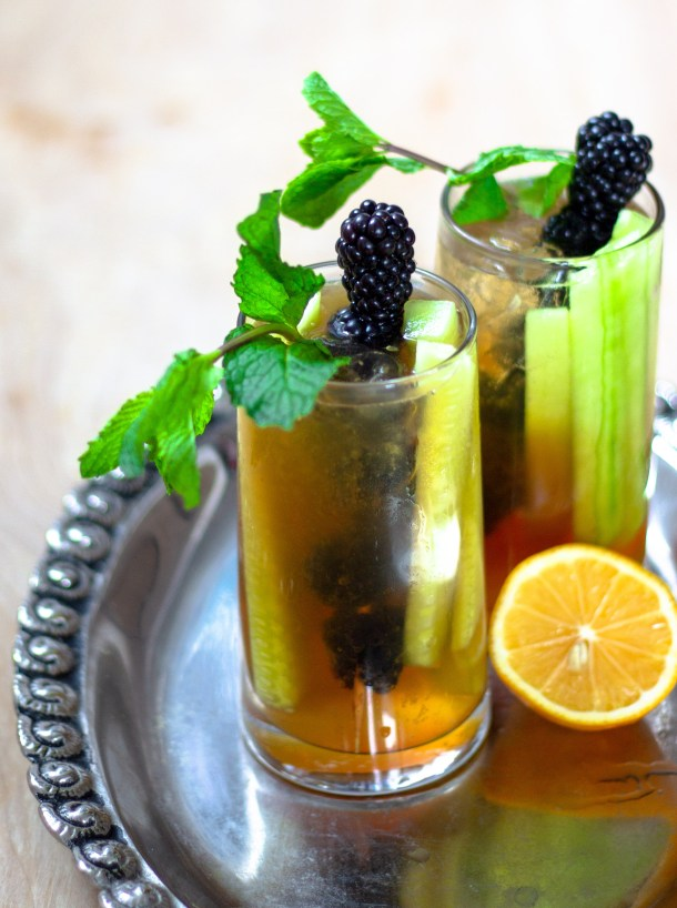 Lemon Elderflower Pimm's by Diverse Dinners