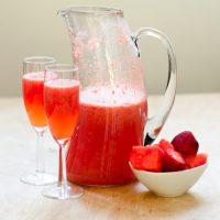 Sparkling Strawberry Watermelon Sangria