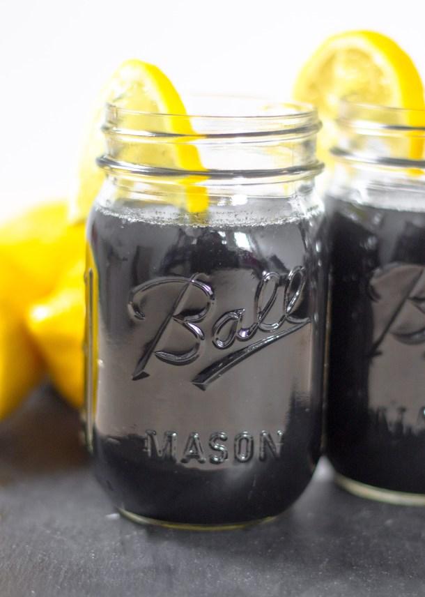 Detox Charcoal Lemonade by Diverse Dinners