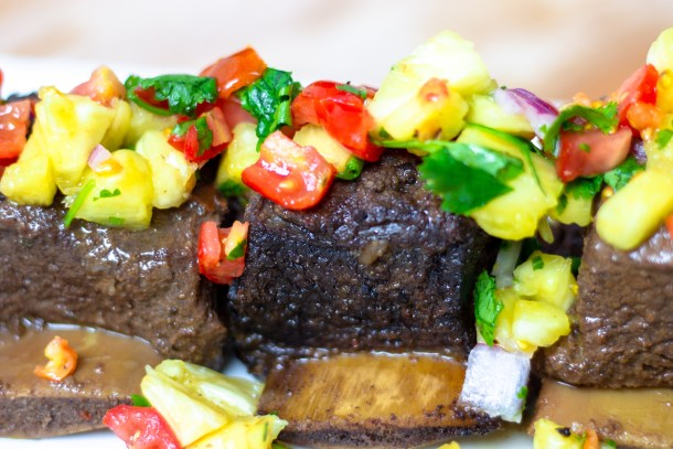 Braised Caribbean Short Ribs with Pineapple Salsa by Diverse Dinners