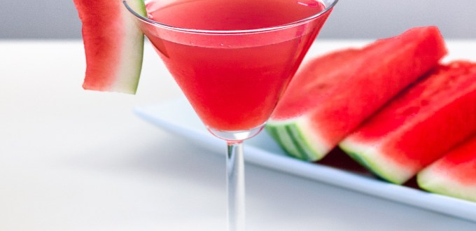 Organic Watermelon Cucumber Martini by Diverse Dinners
