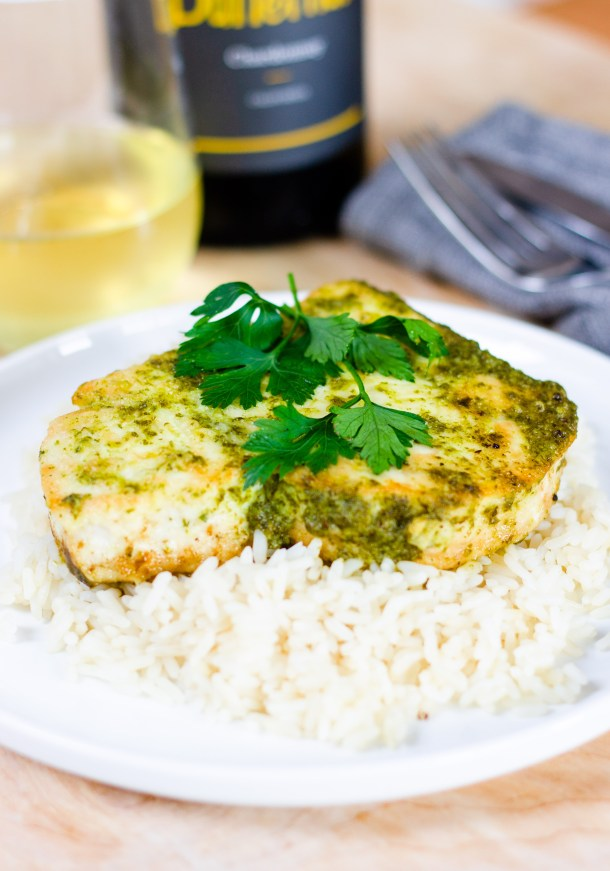 Braised Swordfish in Parsley Sauce by Diverse Dinners