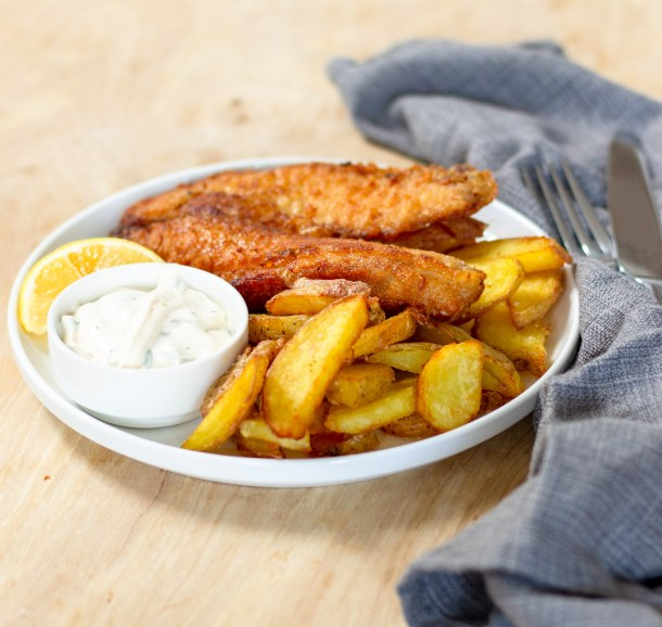 Beer Battered Fish and Chips by Diverse Dinners