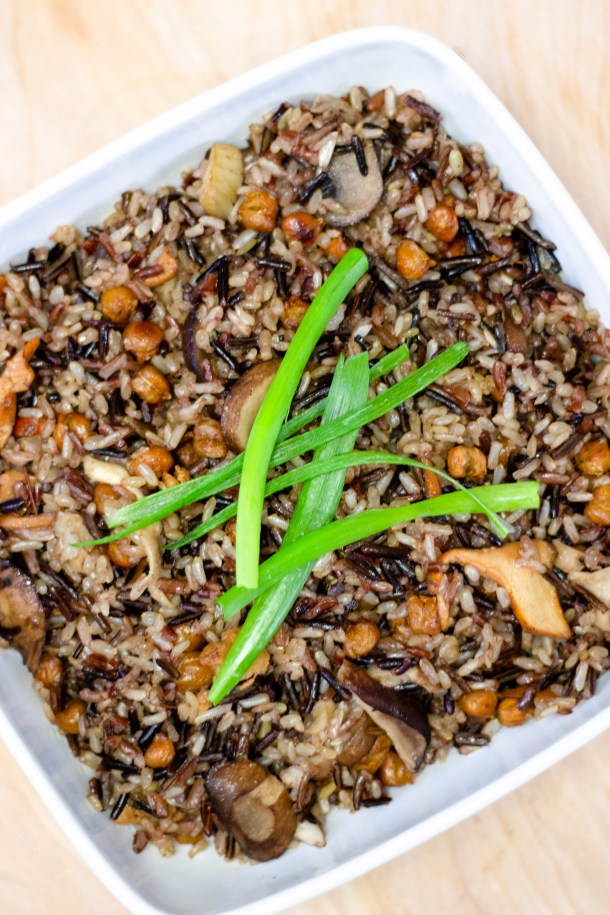 Mushroom Truffle Wild Rice by Diverse Dinners