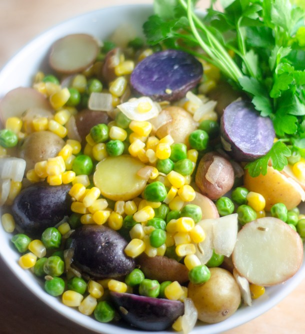 Hot Baby Potato Salad by Diverse Dinners