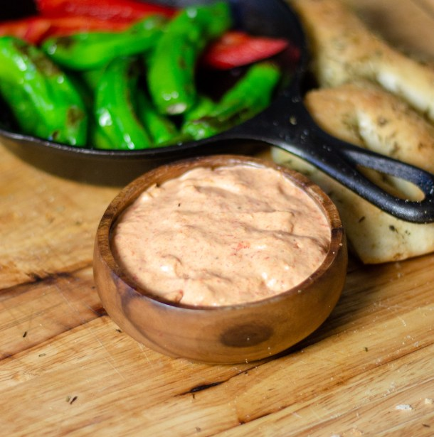 Roasted Red Pepper Dip by Diverse Dinners
