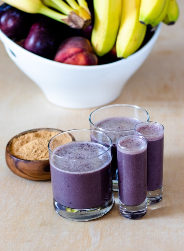 Cherry Banana Maca Smoothie by Diverse Dinners