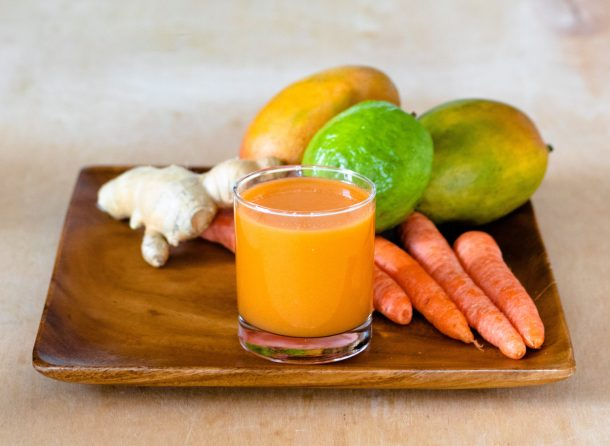 Guava Mango Carrot Juice by Diverse Dinners