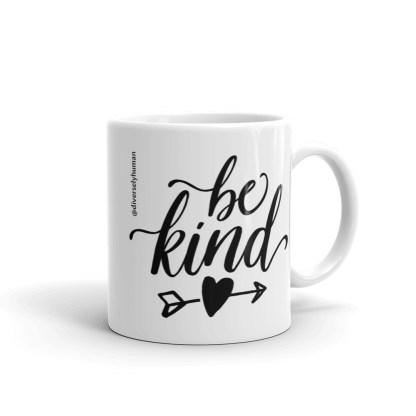 Be kind coffee mug 11oz handle right
