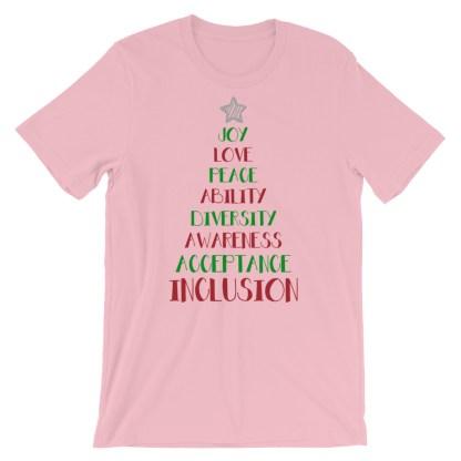 Positive Vibes Christmas Tree T-Shirt