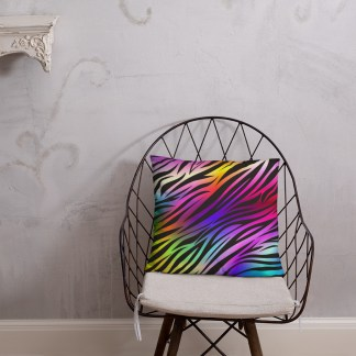 Zebra throw pillow mockup