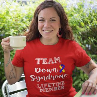 Team Down Syndrome Lifetime Member T-Shirt