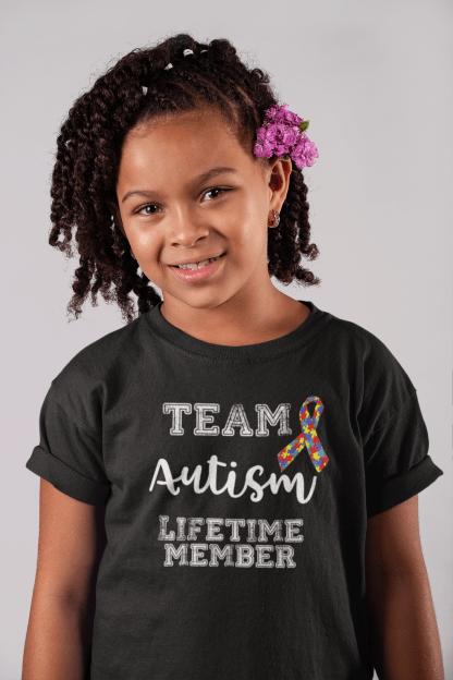 Team autism kids shirt mockup