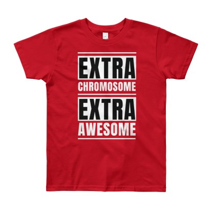 Extra Chromosome. Extra Awesome Youth T-Shirt (8yrs, 10yrs, 12yrs)