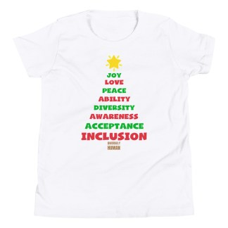 positive vibes christmas shirt kids