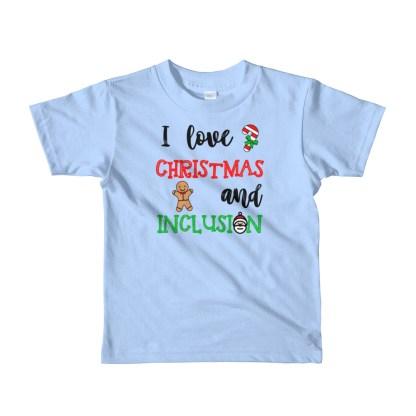 I love Christmas and inclusion kids t-shirt (2yrs, 4yrs, 6yrs)
