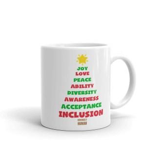 Positive Vibes Christmas Tree Coffee Mug
