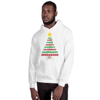 Positive Vibes Christmas Tree Hoodie