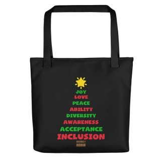 Positive Vibes Christmas Tree Tote bag
