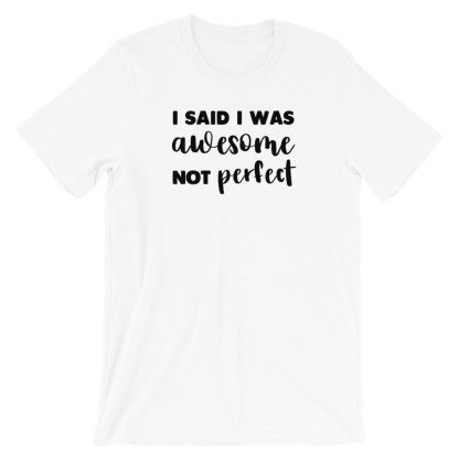 I said I was awesome not perfect T-Shirt