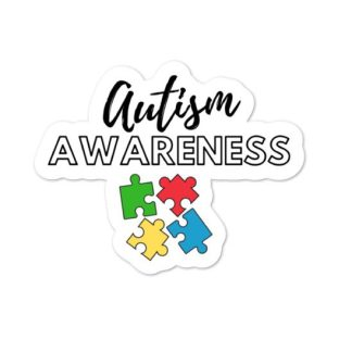 Autism awareness and acceptance sticker