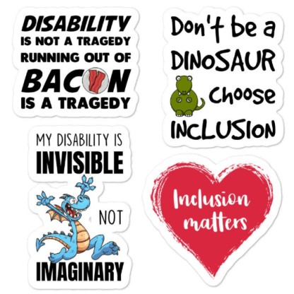 disability awareness sticker pack 2