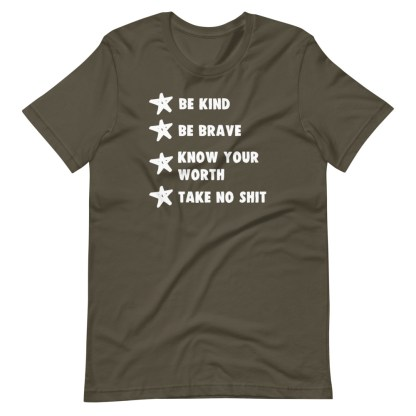 be kind be brave t-shirt army