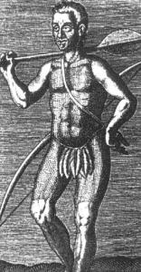 Índio Tibira foi amarrado à boca de um canhão, cujo disparo despedaçou seu corpo