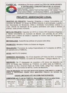 """Projeto """"Associação Legal"""" visa a restruturação das entidades de Alagoas."""
